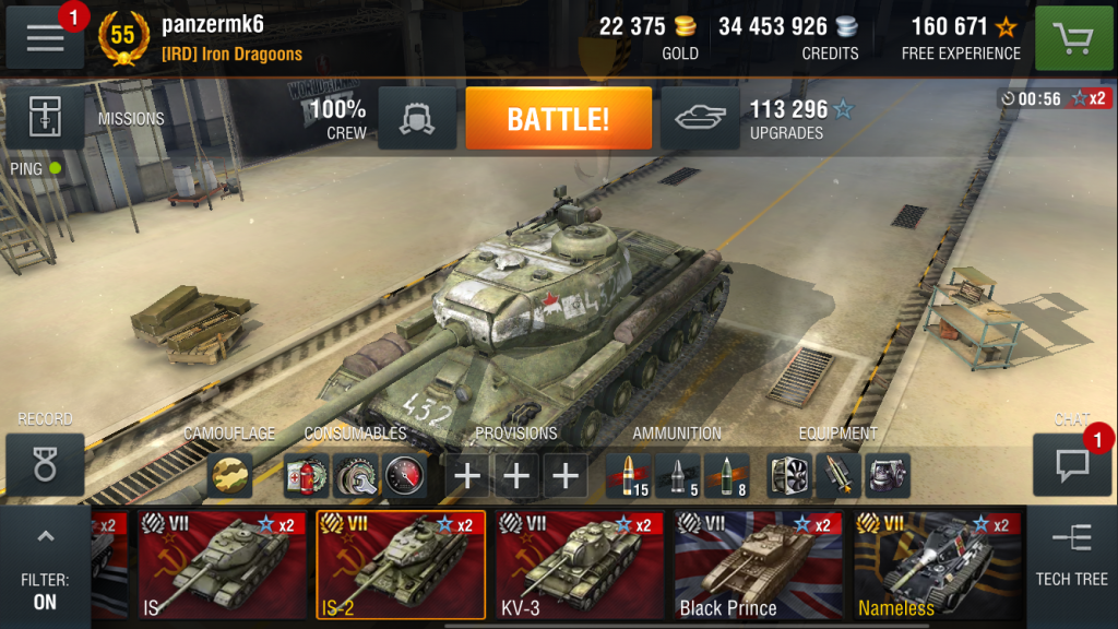 World of Tanks Blitz game