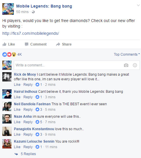 mobile legends free diamonds