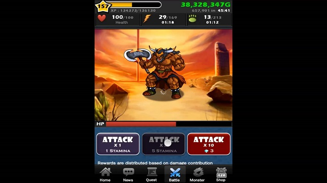 monster warlord boss battle