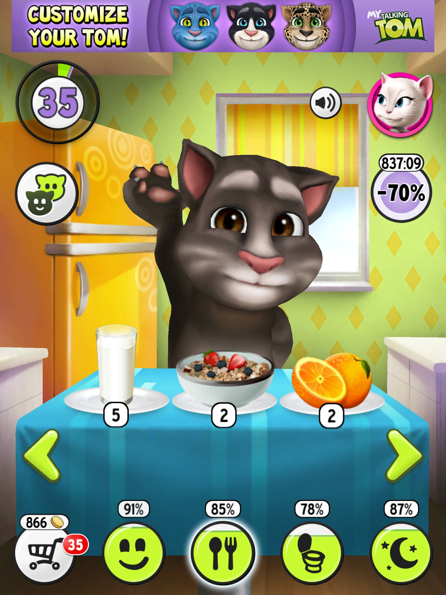 talking tom gameplay