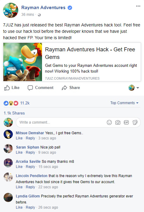 rayman adventures hack proof