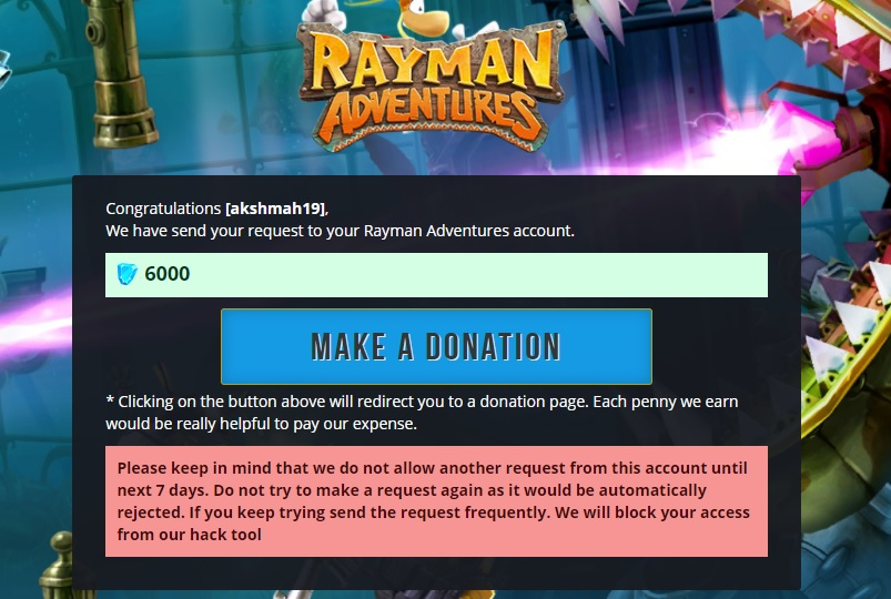 rayman adventures hack final page
