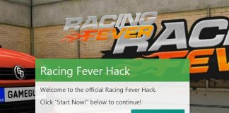 Racing Fever Coins Cheat